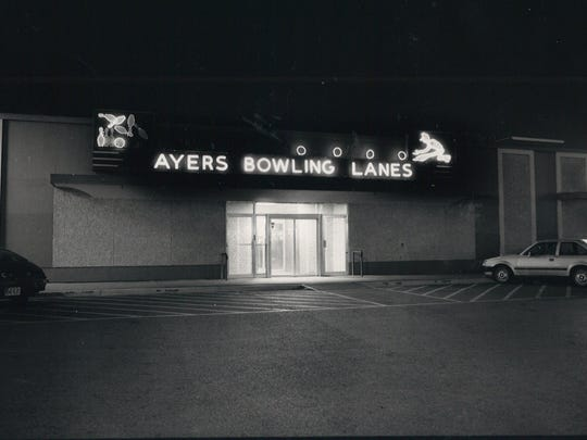 Ayers Bowling Lanes at 3211 Ayers Street operated for 50 years, from 1950 to 2000, in Corpus Christi. This photo was taken in May 1988.