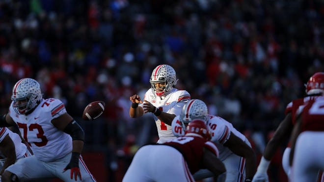 Ohio State quarterback Justin Fields' petition to get the Big Ten to reverse course and play football this fall is resonating: As of Monday afternoon, it had received almost 250,000 signatures in support of playing ball.