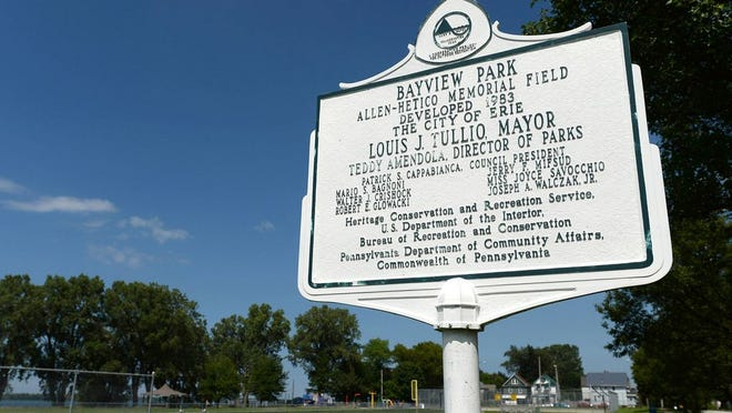 Bayview Park is located on Erie's lower west side.