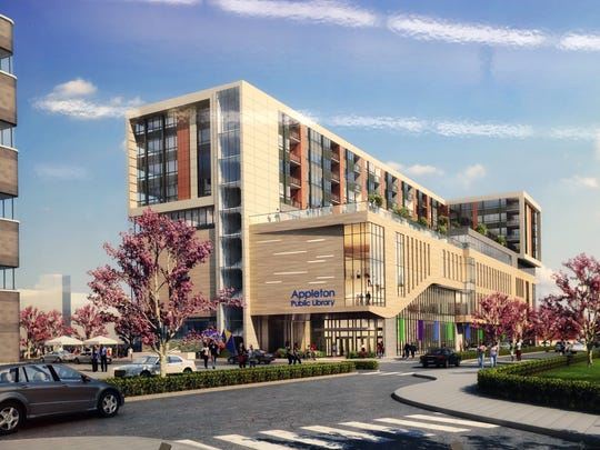 A rendering shows the look of the proposed new Appleton