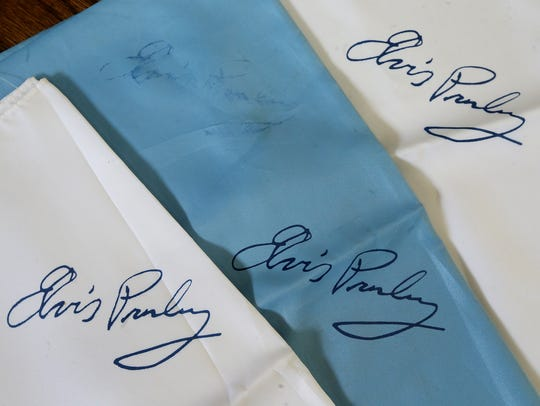 Pat Patterson still has the 3 scarves with Elvis Presley's