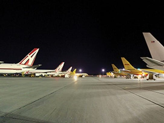 Air Transport Services Group planes on the ground in