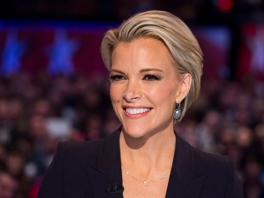Fox News debate moderator Megyn Kelly waits for the start of a Republican Presidential debate, sponsored by Fox News and Google.