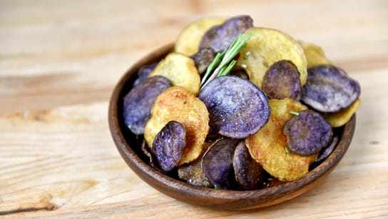 Potato chips, made with potatoes from a CSA share from