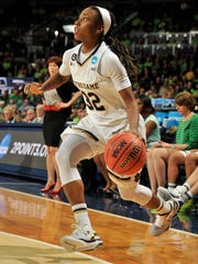 Notre Dame guard Jewell Loyd was the ACC player of the year this season. She averages 20.1 points and 5.3 assists per game.