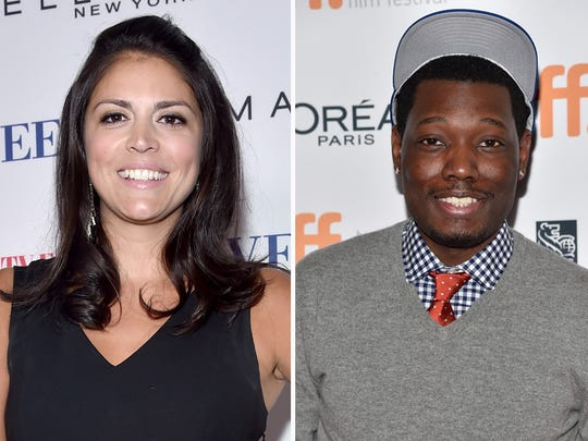 Cecily Strong and Michael Che.