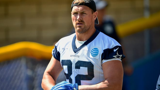Tight end Jason Witten is entering 15th year with the Dallas Cowboys.