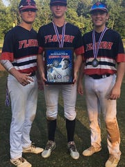 Jaxon West (right) and his Tallahassee-Leon Babe Ruth 14U teammates won a Southeast Regional title on Saturday and are headed to the Babe Ruth World Series.