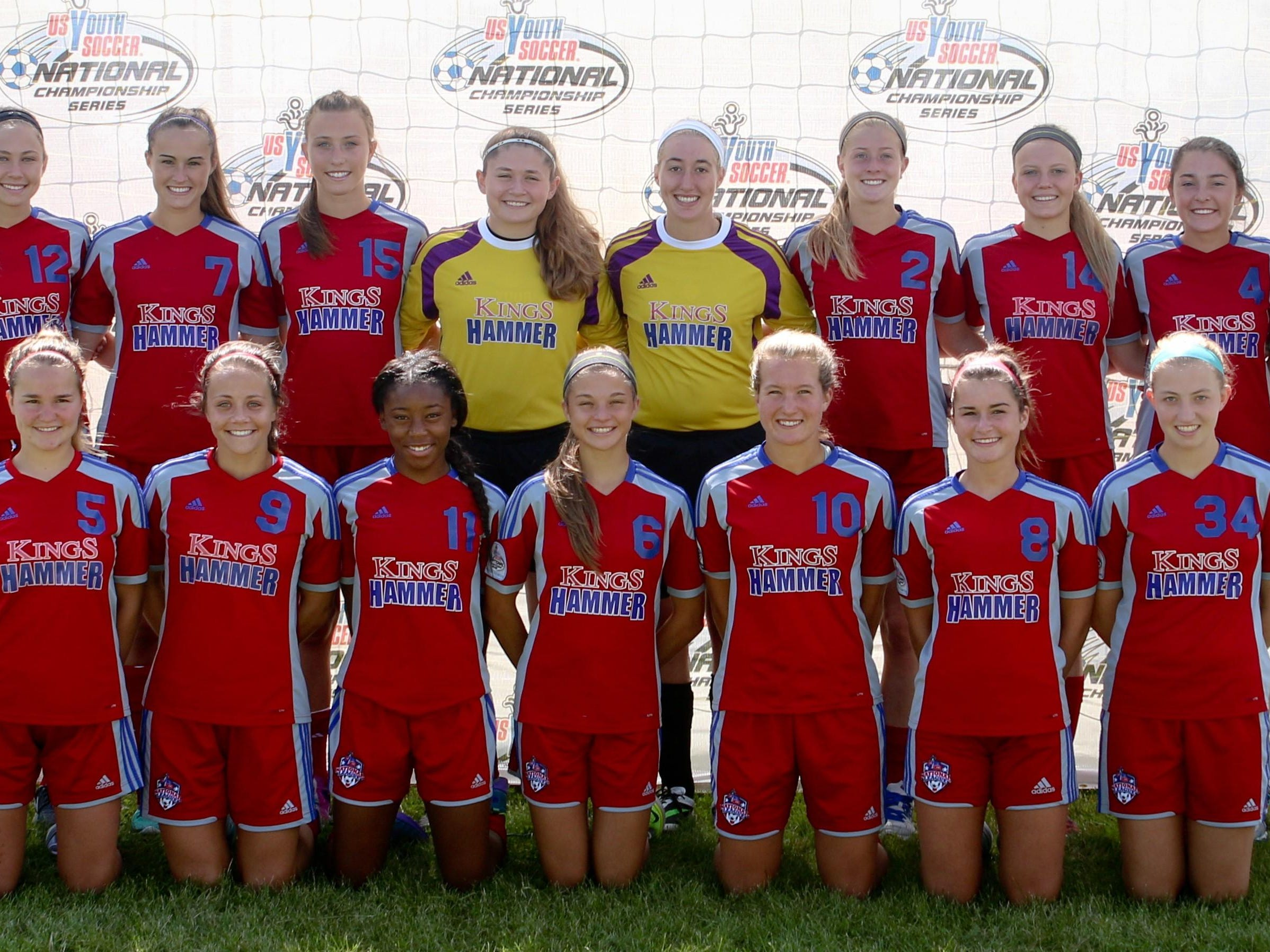 Kings Hammer Academy's U17 girls red team qualified to nationals.