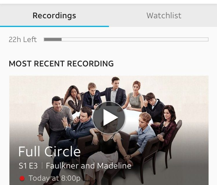 The user interface for AT&T's next generation video platform, which the media provider will begin testing soon.