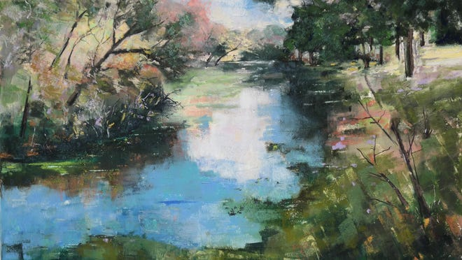 """Sawgrass Lake Park 3,"" a pastel by Wolfgang Ertl, won an honorable mention during the 2019 Dunfey exhibition."