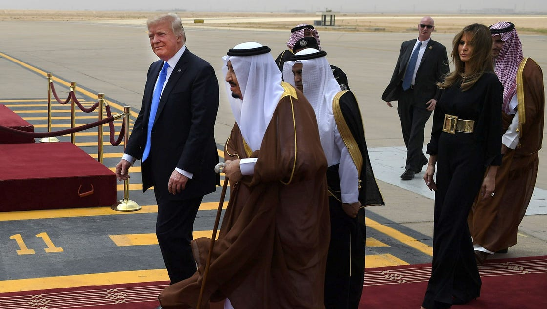 President Trump, Saudi King Salman meet in Riyadh