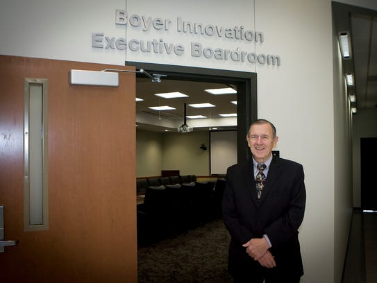 Joseph 'Harry' Boyer, poses outside the Boyer Innovation