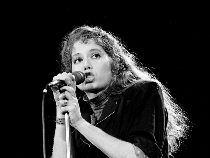 Contemporary Christian singer Amy Grant performs during the Volunteer Jam X at the Municipal Auditorium on Feb. 4, 1984.