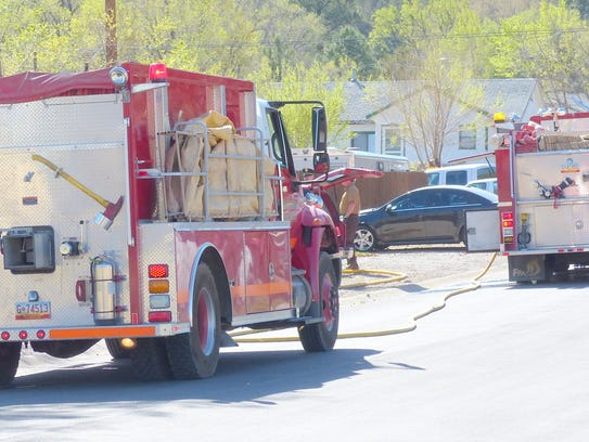 Two fire engines, state police and other emergency