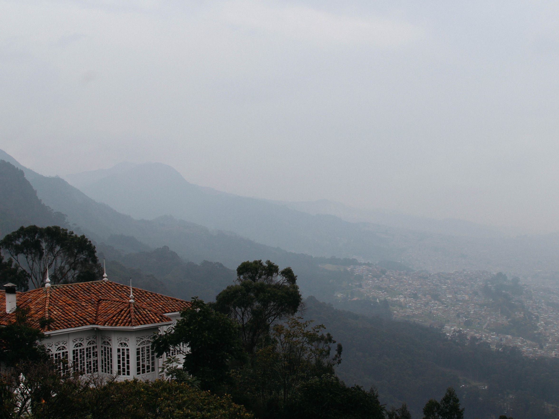 The top of Monseratte provides visitors with sweeping