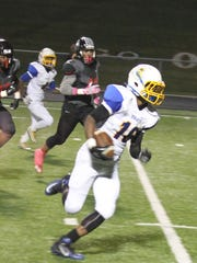 Northwest sophomore wide receiver Dae'Mon Cherry finds some running room after this first-half reception