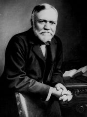 Steel magnate Andrew Carnegie, seen in this undated file photo, ranked second in an American Heritage magazine ranking of the 40 richest Americans of all time.