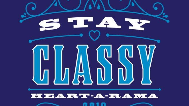 Heart-A-Rama's 2018 logo, 'Stay Classy, Heart-A-Rama.'