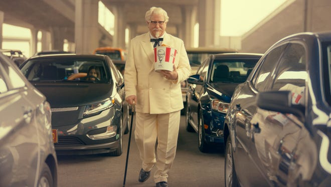 """""""Saturday Night Live"""" alum Darrell Hammond as Colonel Sanders in a new KFC television ad. The real Col. Harland Sanders died nearly 35 years ago, and KFC hasn't featured him in TV ads for about 20 years."""
