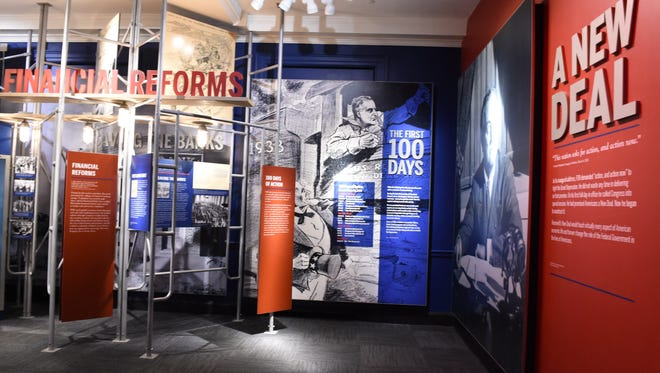 The New Deal section of the FDR Presidential Library and Museum on Tuesday May 31, 2016.
