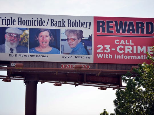 A billboard sits near Blue Ridge Savings Bank, now closed, near I85 in Greer on Wednesday, May 6, 2015.