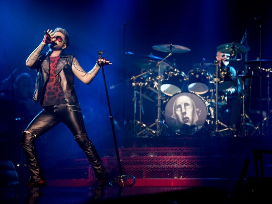 Queen and Adam Lambert perform at Bridgestone Arena