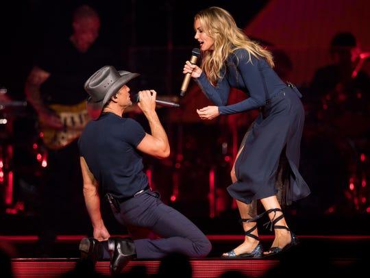 Faith Hill and Tim McGraw perform at Bridgestone Arena
