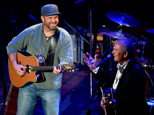 "Garth Brooks and Kent Blazy perform ""If Tomorrow Never"