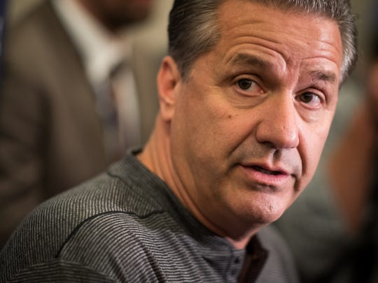 Kentucky coach John Calipari speaks during SEC Media