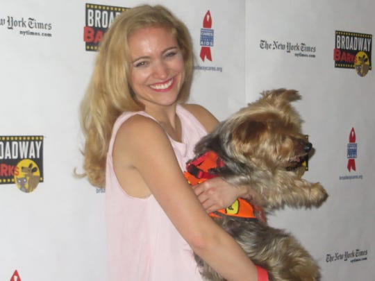 Christy Altomare at the 20th annual Broadway Barks, July 14, 2018, at Shubert Alley in Manhattan.