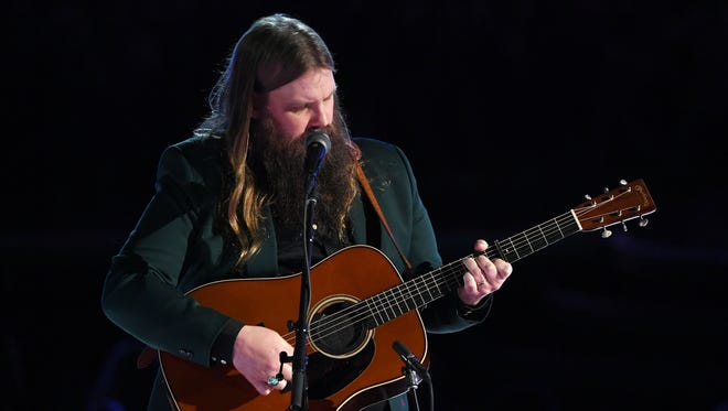 Chris Stapleton performs onstage during the 60th Annual Grammy Awards at Madison Square Garden on January 28, 2018 in New York City.