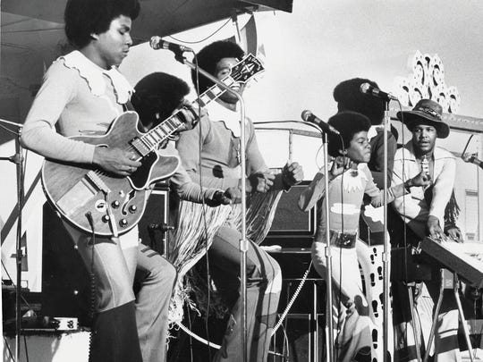 """The jackson 5 performed at the Michigan State Fair i Detroit on Sept. 9, 1971.   The Jackson 5 perform at the Michigan State Fair in Detroit, on Sept. 9, 1971. The Jackson 5 represented the second great surge of popularity for Motown, in the early 1970s. While press reports (planted by Motown) claimed that Diana Ross discovered the brothers in Los Angeles, in fact, prodded by their ambitious father Joseph, they had been recording and touring out of their native Gary, Ind., for years. Gordy took a personal interest in the boys' career, and co-wrote their first Motown hit """"I Want You Back,"""" and personally supervised its recording."""