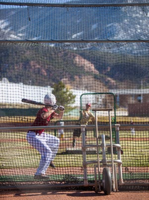 Cedar High's baseball team holds practice, Wednesday, Mar. 16, 2016.