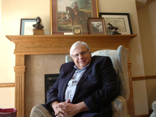 Butler County politician Mike Fox is photographed in the office of his former Fairfield Township home on Friday, March 20, 2009. Fox is retired from public service shortly thereafter.