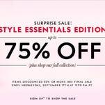 Surprise Sale: 75% off