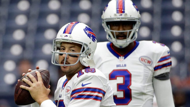 Bills QB EJ Manuel (3) will move into the background with Kyle Orton taking over.