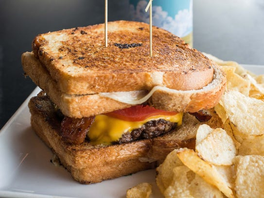 The Grilled Cheese Burger from Liberty Market in downtown