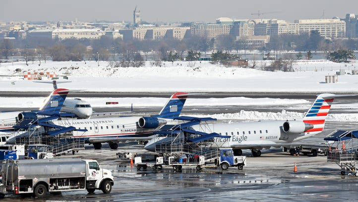 Storm-related delays in the U.S. were being felt at Europe airports as well.