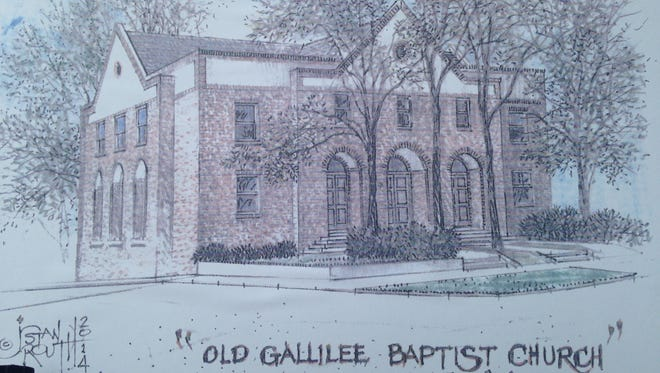 A conceptual drawing of a renovated facilities at the old Galilee Missionary Baptist Church site on Williamson Street.