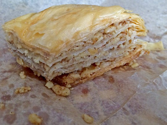The Baklava at Fat Zeus is a sweet dessert option.