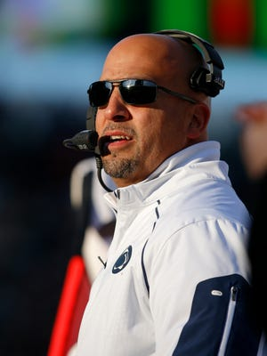 Penn State coach James Franklin released his team's depth chart heading into Saturday's opener vs. Kent State.
