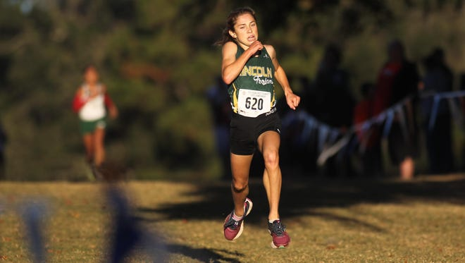 Lincoln freshman Alyson Churchill won Saturday's girls FHSAA Class 3A state cross country championship with a time of 17:55.
