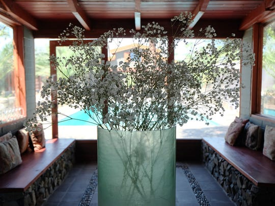 The entry room to The Sparrows Lodge in Palm Springs CA, Tuesday, August 19, 2014.