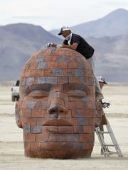 Images from the Burning Man art under construction