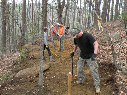 Work continues on the Cumberland Trail in a section