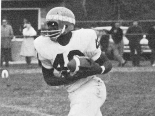 Middletown back Ed Jones carries the ball during the 1969 season.