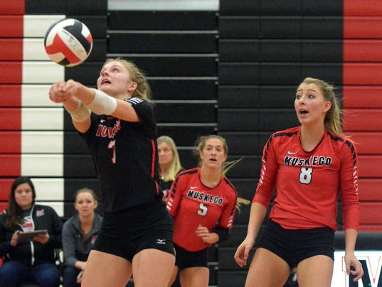 Girls volleyball playoffs: Franklin at Muskego