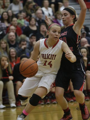 Felicity-Franklin's Ashley Moore was named the Division III player of the year by the Associated Press.