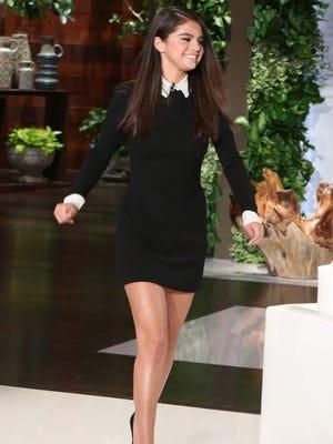 Selena Gomez visits Ellen DeGeneres' show.